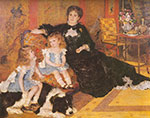 Pierre August Renoir, Madame Charpentier and her Children Fine Art Reproduction Oil Painting