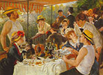 Pierre August Renoir, Luncheon of the Boating Party Fine Art Reproduction Oil Painting