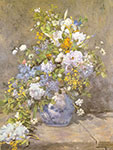 Pierre August Renoir, Spring Bouquet Fine Art Reproduction Oil Painting