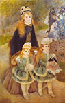 Pierre August Renoir, Mother and Children Fine Art Reproduction Oil Painting