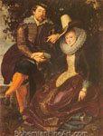 Peter Paul Rubens, Rubens and Isabella Brant Fine Art Reproduction Oil Painting