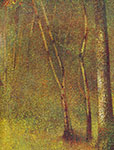 Georges Seurat, In the Woods at Pontaubert Fine Art Reproduction Oil Painting