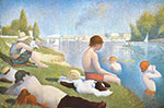 Georges Seurat, Bathing at Asnieres Fine Art Reproduction Oil Painting
