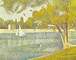 Georges Seurat, The Seine at La Grande Jatte in Spring Fine Art Reproduction Oil Painting