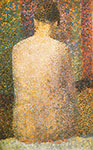 Georges Seurat, Seated Model+ Back Fine Art Reproduction Oil Painting