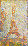 Georges Seurat, The Eiffel Tower Fine Art Reproduction Oil Painting