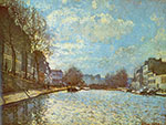 Alfred Sisley, Canal St Martin, Paris Fine Art Reproduction Oil Painting