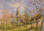 Alfred Sisley, Orchard in Spring - By Fine Art Reproduction Oil Painting