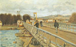 Alfred Sisley, Footbridge at Argenteuil Fine Art Reproduction Oil Painting