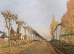Alfred Sisley, Chemin de la machine, Louveciennes Fine Art Reproduction Oil Painting