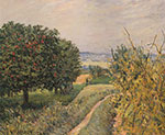 Alfred Sisley, Among the Vines, Louveciennes Fine Art Reproduction Oil Painting
