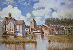Alfred Sisley, The Canel du Loing at Moret Fine Art Reproduction Oil Painting