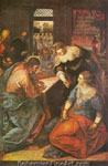 Jacopo Tintoretto, Christ in the House of Martha Fine Art Reproduction Oil Painting