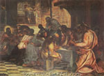 Jacopo Tintoretto, The Last Supper Fine Art Reproduction Oil Painting