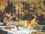 James Tissot, The Picnic Fine Art Reproduction Oil Painting