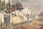 Maurice Utrillo, Street at Montmartre Fine Art Reproduction Oil Painting