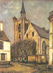 Maurice Utrillo, Church at Fere-en-Tardenois Fine Art Reproduction Oil Painting