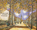 Maurice Utrillo, View of Anse Fine Art Reproduction Oil Painting