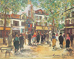 Maurice Utrillo, Place du Tertre at Montmartre Fine Art Reproduction Oil Painting
