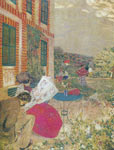 Edouard Vuillard, Woman Reading in a Garden Fine Art Reproduction Oil Painting