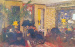 Edouard Vuillard, Room with Three Lamps Fine Art Reproduction Oil Painting