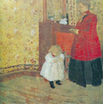 Edouard Vuillard, Mother and Child Fine Art Reproduction Oil Painting