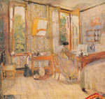 Edouard Vuillard, Interior of a Bedroom Fine Art Reproduction Oil Painting
