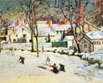 Theodore Wendel, Sledding, Ipswich, Massachusetts Fine Art Reproduction Oil Painting