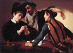 Michelangelo Caravaggio, The Cardsharps Fine Art Reproduction Oil Painting