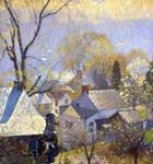 Daniel Garber, Springtime in the Village Fine Art Reproduction Oil Painting