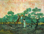 Vincent Van Gogh, The Olive Pickers Fine Art Reproduction Oil Painting