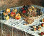 Claude Monet, Still Life: Apples and Grapes Fine Art Reproduction Oil Painting