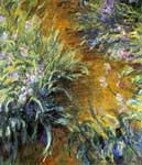 Claude Monet, The Path Through the Irises Fine Art Reproduction Oil Painting