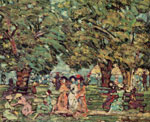 Maurice Prendergast, Under The Trees Fine Art Reproduction Oil Painting