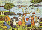 Maurice Prendergast, Late Afternoon New England Fine Art Reproduction Oil Painting