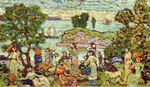 Maurice Prendergast, Outer Harbor Fine Art Reproduction Oil Painting