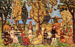 Maurice Prendergast, In The Park Fine Art Reproduction Oil Painting
