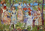 Maurice Prendergast, Girls In The Park Fine Art Reproduction Oil Painting