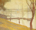 Georges Seurat, The Bridge at Courbevoie Fine Art Reproduction Oil Painting