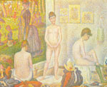 Georges Seurat, The Models Fine Art Reproduction Oil Painting
