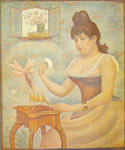 Georges Seurat, Young Woman Powerdering Herself Fine Art Reproduction Oil Painting