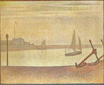 Georges Seurat, The Channel at Gravelines Evening Fine Art Reproduction Oil Painting