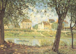 Alfred Sisley, Village on the Banks of the Seine Fine Art Reproduction Oil Painting
