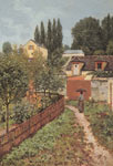 Alfred Sisley, Garden Path in Louveciennes Fine Art Reproduction Oil Painting