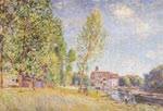 Alfred Sisley, Matrat's Boatyard Moret sur Loing Fine Art Reproduction Oil Painting