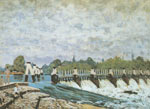 Alfred Sisley, Molesey Weir - Morning Fine Art Reproduction Oil Painting
