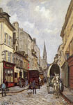 Alfred Sisley, La Grande Rue Argenteuil Fine Art Reproduction Oil Painting